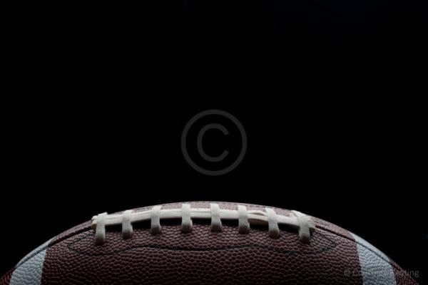 Stylish shot of a gridiron football