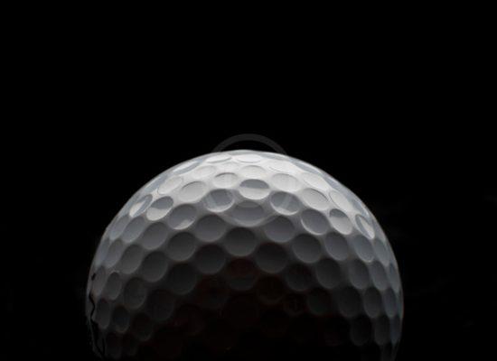 Backlit golf ball